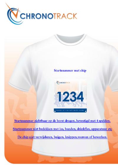 Chronotrack hoe nummer te dragen NL